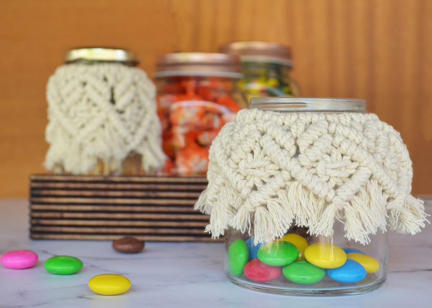 diy macrame for mason jars