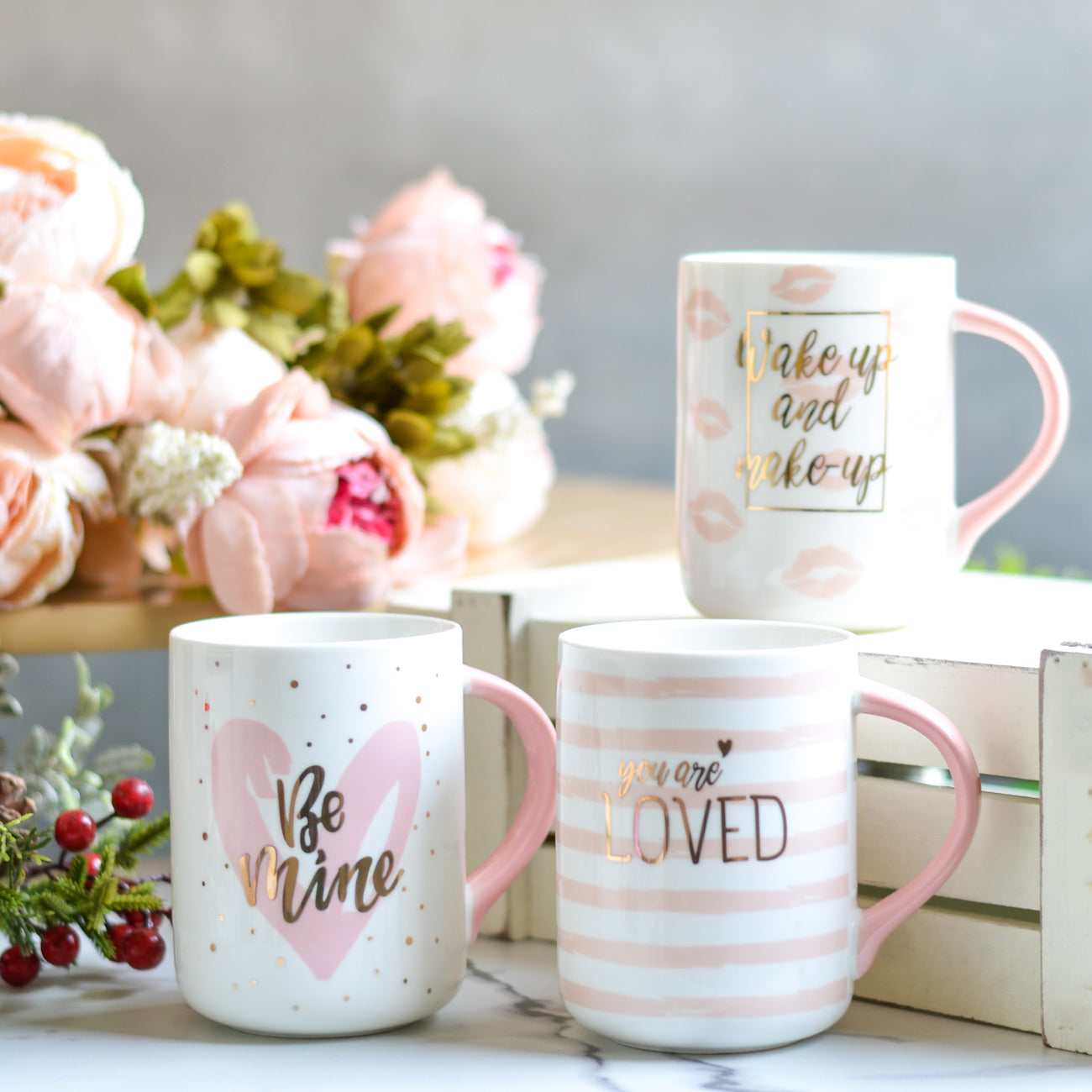 White Mugs for Christmas