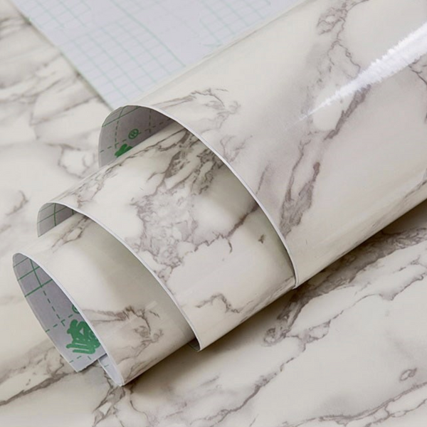 MARBLE Marble Self Sticking Paper - White - Nestasia Home Decor
