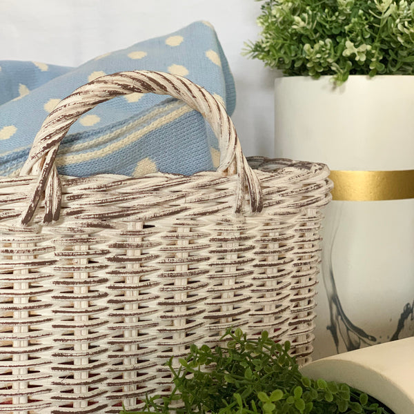 MOD White Grey Basket - Set of 2