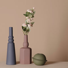 Tall Ceramic Vase Indigo