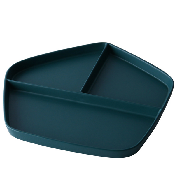 GEOMTERIC pentagon section plate - midnight green