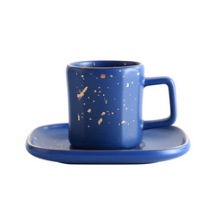CARA Espresso cup & saucer - Persian blue - Nestasia Home Decor