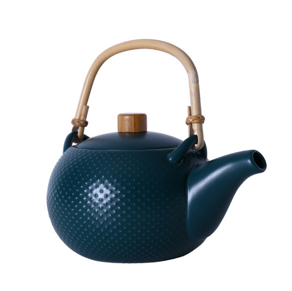 MAGNIFIQUE textured tea pot - midnight green