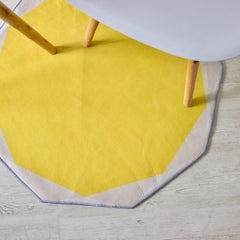 POLYGON round rug (S) - Sunny Yellow - Nestasia Home Decor