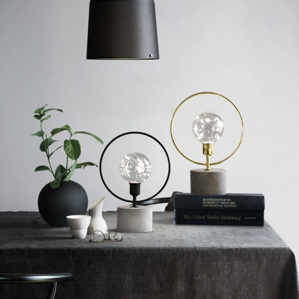 MERRY Concrete Metal Lamp - Black - Nestasia Home Decor