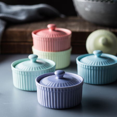 MERRY Ramekin with lid - Purple