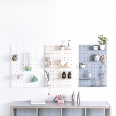 DIY Fibre Peg Board - White - Nestasia Home Decor