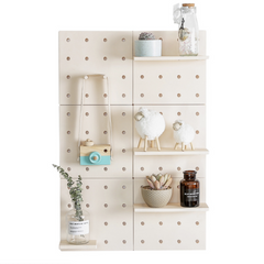 DIY Fibre Peg Board - Beige - Nestasia Home Decor
