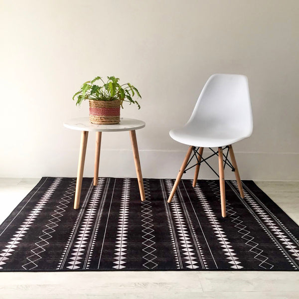ROCCO Rectangle rug - black - Nestasia Home Decor