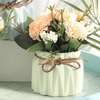 FLORA Vase with Flowers - Green - Nestasia Home Decor