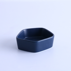 GEOMTERIC pentagon snack bowl - Prussian blue