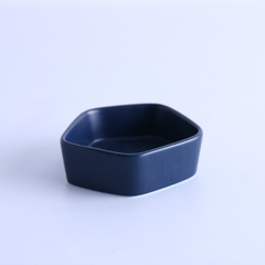GEOMTERIC pentagon snack bowl - Prussian blue - Nestasia Home Decor