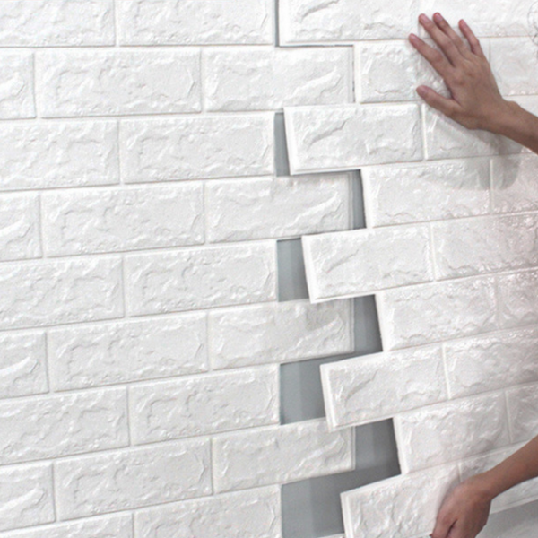 Bubble Brick Wall Paper - White - Nestasia Home Decor