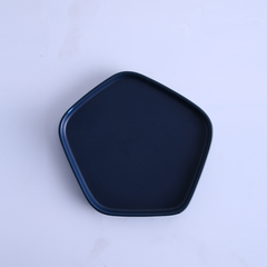 GEOMTERIC pentagon snack plate - Prussian blue - Nestasia Home Decor
