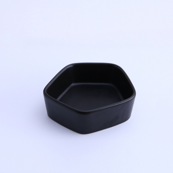 GEOMTERIC pentagon snack bowl - soul black - Nestasia Home Decor