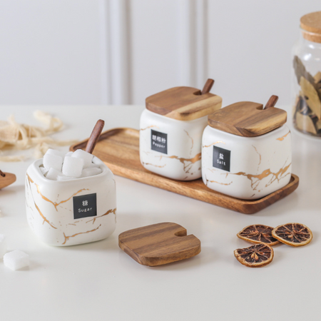 CARA Spice Jars set - natural white