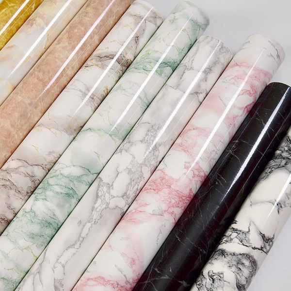 MARBLE Marble Self Sticking Paper - Swirl White - Nestasia Home Decor