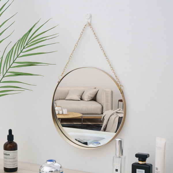 MERRY Cosmetic Hanging Mirror - Gold - Nestasia Home Decor