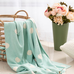 Blue Cotton Blanket