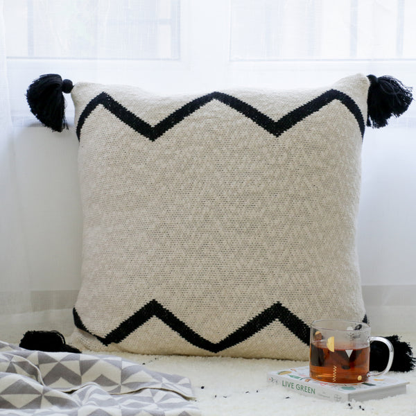 White Black Cushion