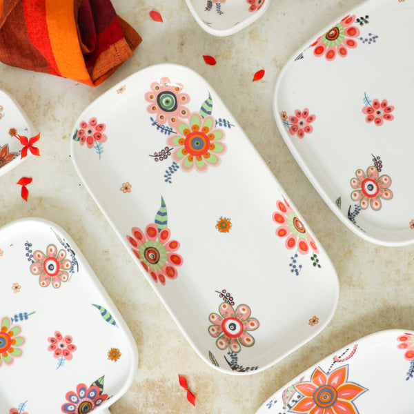 Rectangle Floral Plate