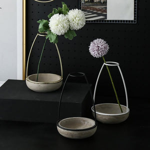 Abstract Vase Black