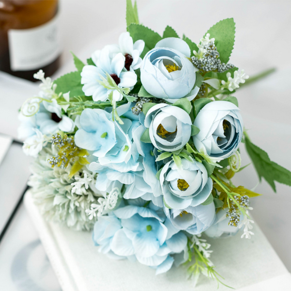 Artificial Flowers Blue Bunch