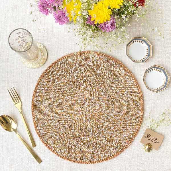 BEADS Classic Gold Table Mat