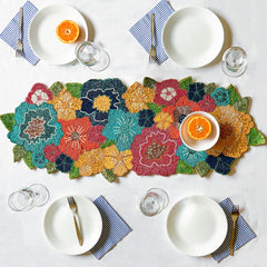BEADS Floral Table Runner - Colourful