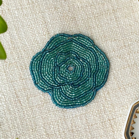 BEADS Flower Coaster - Blue (Set of 4)