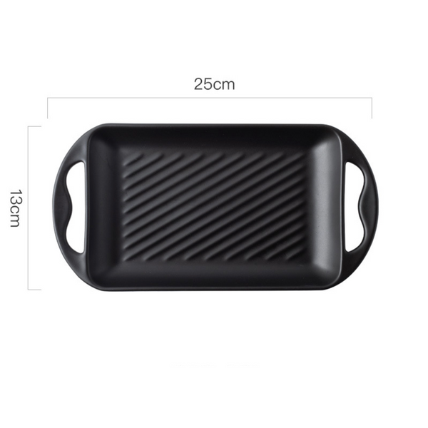 Baking Tray With Handle Black