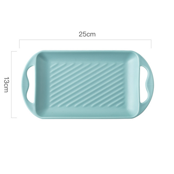 Baking Tray With Handle Blue