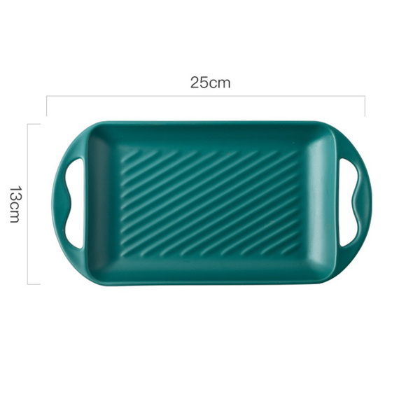 Baking Tray With Handle Green