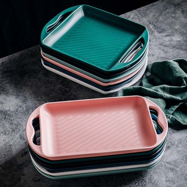 Baking Tray With Handle Pink