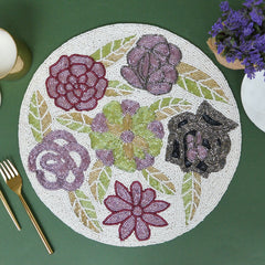 BEADS Round Floral Mat