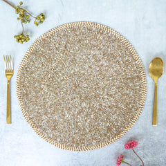 Beads Silver Gold Table Mat