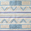 BOHO Bluebell Hand Woven Rug - Blue White & Natural