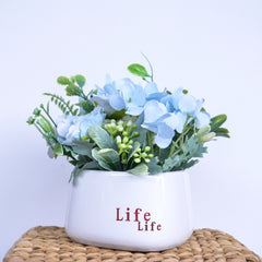 Blue Flora Bouquet Vase