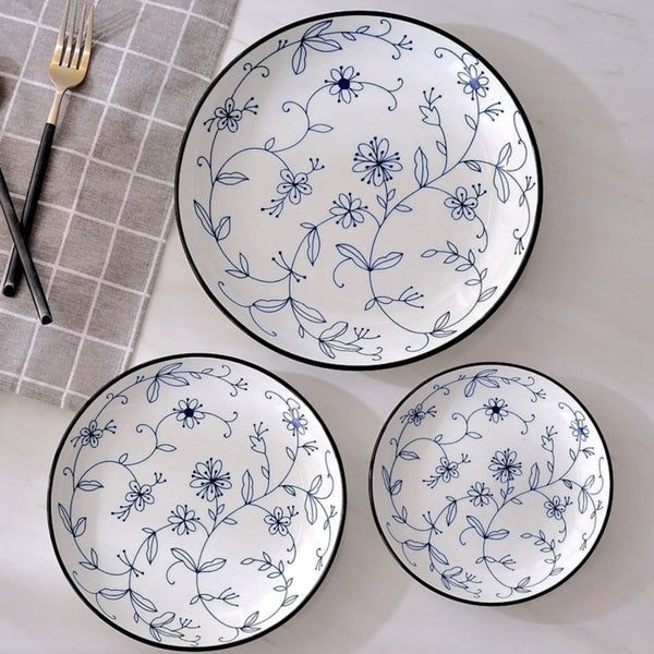 Blue and white Floral Dinner Plate