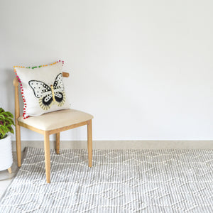 BOHO Vincent Hand Woven Rug - Grey & White