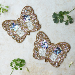 BEADS Butterfly Coaster - Gold (Set of 2)