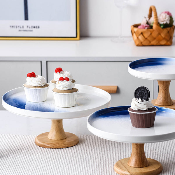 Cake Stand Blue And White