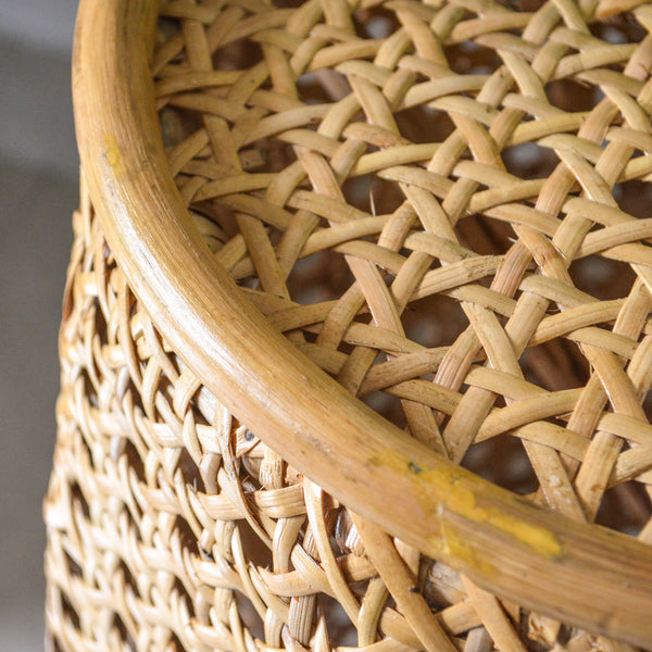Cane Stool Table