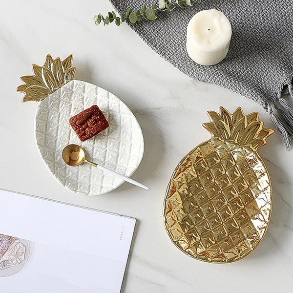 Ceramic Pineapple Plate