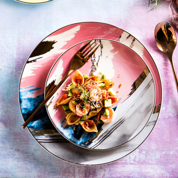 Colourful Plates - Pink