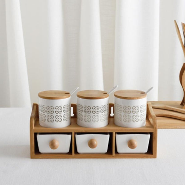 Ceramic Spice Jar Set