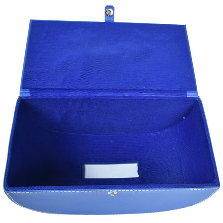 Tissue Box in Indigo Blue PU Leatherite for gifting home office car
