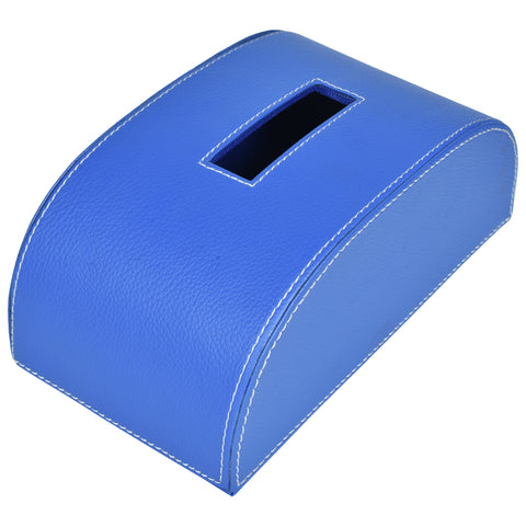 Nestasia Indigo Blue Tissue Box in PU Leatherite for gifting home office car