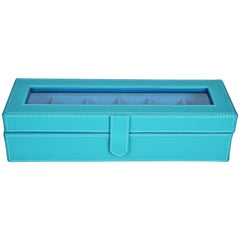 GLAM Watch Box for 6 Watches - Blue - Nestasia Home Decor